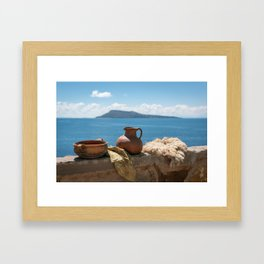 Peruvian pottery Framed Art Print