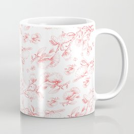 Red pohutukawa pattern Coffee Mug