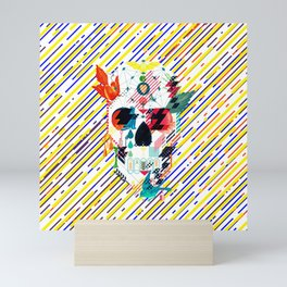 Abstract Skull Mini Art Print