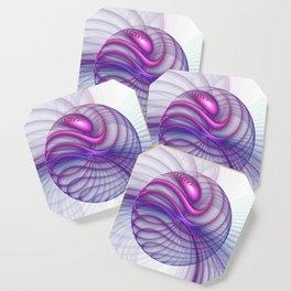 Beautiful Movements, Abstract Fractal Art Coaster