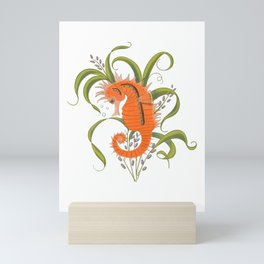 Under the sea baby seahorse-clear Mini Art Print