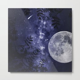 Starry Night and Moon #2 Metal Print