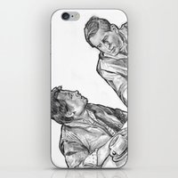 marty mcfly iPhone & iPod Skins featuring mcfly by BzPortraits