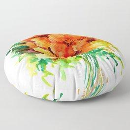 Californian Poippies Floor Pillow