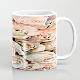 Delicate Peach Roses Coffee Mug