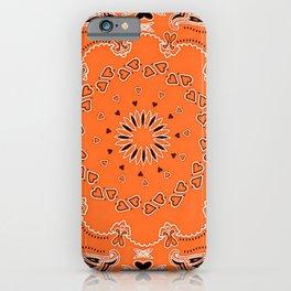 Orange oriental design iPhone Case