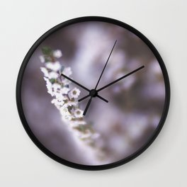 The Smallest White Flowers 02 Wall Clock