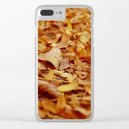 The Autumn leaves Clear iPhone Case