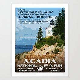 Vintage poster - Acadia National Park Kunstdrucke