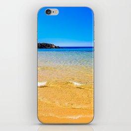 The beach of Chia su Giudeu, Sardinia iPhone Skin
