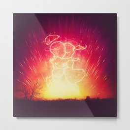 Cosmo + Celeste ( Colorful Cosmological Night Sky Couple in Love ) Metal Print