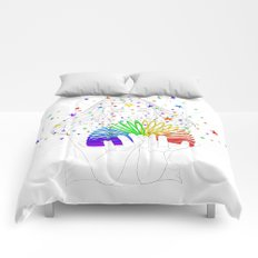 Rainbow Spring - Colors Decompressed Comforters