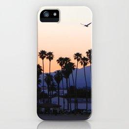 santa barbara sunset iPhone Case