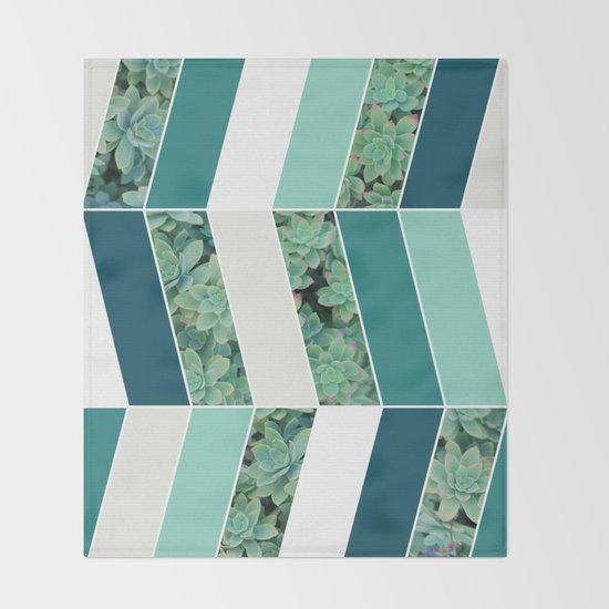 Teal Herringbone #society6 #teal #succulent by designdn