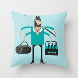 Back to Indie Business Throw Pillow