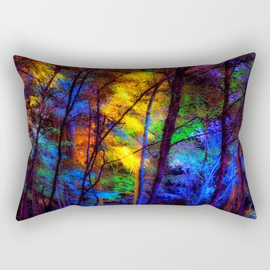 Rainbow Enchanted Forest Rectangular Pillow