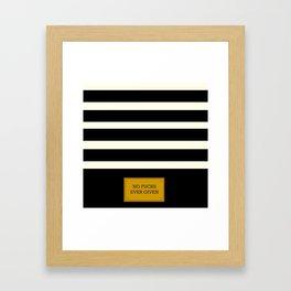 Gold Plated Nonsense Framed Art Print