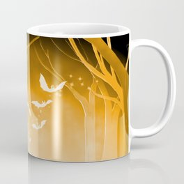 Dark Forest at Dawn in Amber Coffee Mug