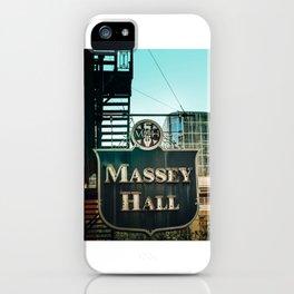Massey hall 2017 iPhone Case