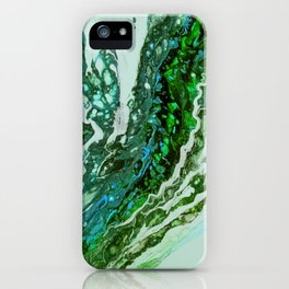 Green blue rivers iPhone Case