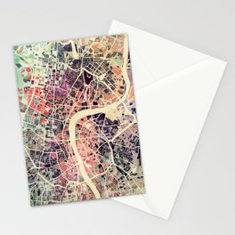 London Mosaic Map #1 Stationery Cards