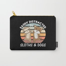 Easily Distracted By Sloths And Dogs Cute Animals Carry-All Pouch