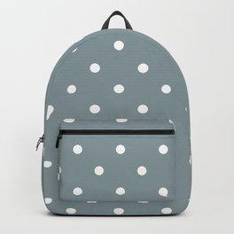 Polka Dots Pattern: Neutral Blue Backpack
