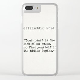 Rumi quote Clear iPhone Case