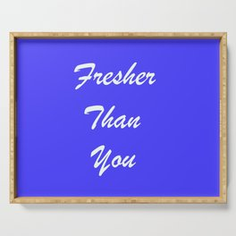 Fresher Thank You : Periwinkle Serving Tray