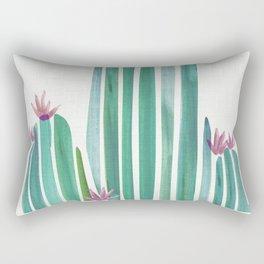 Spring Cactus Flowers Rectangular Pillow