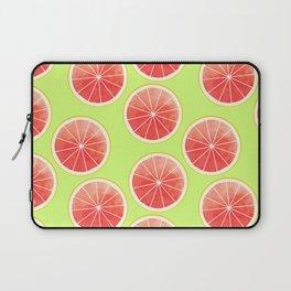Pink Grapefruit Slices Pattern Laptop Sleeve