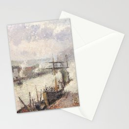 Camille Pissarro - Steamboats in the Port of Rouen, 1896 Stationery Cards