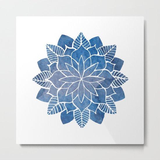 Blue Marine Mandala Metal Print