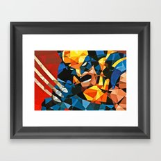 Geometric Superhero Framed Art Print