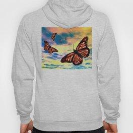 Flying Monarch Butterflies Hoody