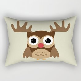 Reindeer Owl Rectangular Pillow