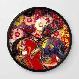 Becoming One Heart Wall Clock