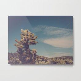 Cholla Cactus Garden II Metal Print