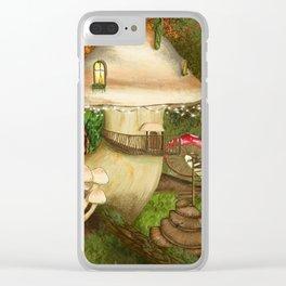 Fungus Cottage -  Ella Springhollow Scene 1 Clear iPhone Case