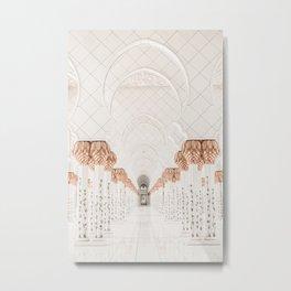 Sheik Zayed Mosque Abu Dhabi Metal Print