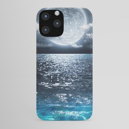 Full Moon over Ocean iPhone Case
