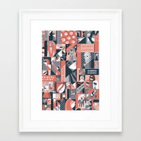 pulp Framed Art Prints featuring Pulp by Eleni Kalorkoti