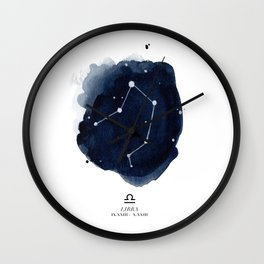 Zodiac Star Constellation - Libra Wall Clock