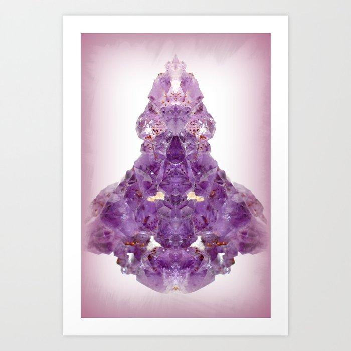 Spiritual | Amethyst | Crystals | Zen Abstract | Violet Flame | | Nadia  Bonello Art Print by trumyiz