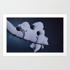 Lourd avec de la neige Art Print