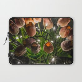 Festive Lights and Flowers Laptop Sleeve