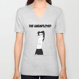 The Unemployed - Sam Unisex V-Neck