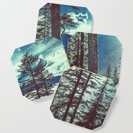Crater Lake Vintage Summer Coaster