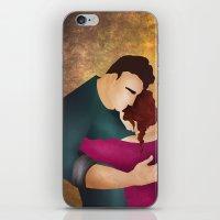 hug iPhone & iPod Skins featuring Hug by Slavena Peneva