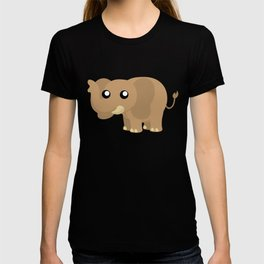 Brown Elephant Standing Left View T-shirt